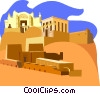 Vector Clipart illustration  of a Desert buildings