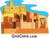 Vector Clipart image  of a Morocco buildings