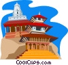 Vector Clipart picture  of a Katmandu