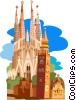 Spain, Barcelona Vector Clipart graphic