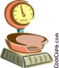 Vector Clip Art image  of a electric scale