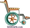 wheelchair Vector Clipart illustration