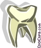 Vector Clip Art graphic  of a tooth