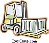 forklift Vector Clip Art graphic
