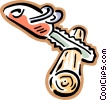 Vector Clipart image  of a chainsaw