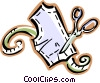 Vector Clipart picture  of a cutting out a pattern