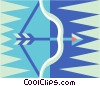 bow and arrow Vector Clip Art graphic