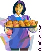 Vector Clip Art graphic  of a Buns and Rolls