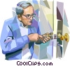 Vector Clip Art image  of a Door Knobs