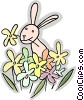 Vector Clip Art graphic  of a Rabbits