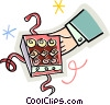 Vector Clip Art graphic  of a box of chocolates