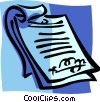 Vector Clip Art image  of a contract