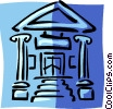 financial institution Vector Clipart graphic