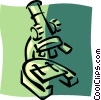 Vector Clipart image  of a microscope
