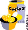 bag of potato chips Vector Clipart image