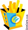 Vector Clipart image  of a French fries