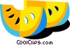 Vector Clipart illustration  of a lemon slices