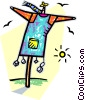 Vector Clip Art graphic  of a scarecrow