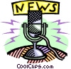 Vector Clip Art graphic  of a news microphones