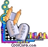 Vector Clip Art picture  of a ten commandments