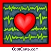 Heart and EGC chart Vector Clip Art picture
