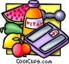 Vector Clipart graphic  of a health foods and vitamins