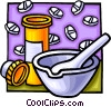 mortar and pestle Vector Clipart illustration