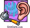ear examination Vector Clip Art graphic