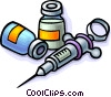 Vector Clipart picture  of a Needles with medicine