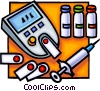 Vector Clipart image  of a Needle and blood test