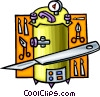 Vector Clipart picture  of a scalpel with surgery equipment