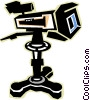 Vector Clipart graphic  of a television cameras