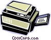 photocopy machine Vector Clip Art image