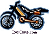 Vector Clip Art graphic  of a motorcycle
