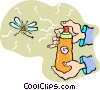 Vector Clipart picture  of a bug spray