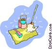 cleaning supplies Vector Clipart illustration
