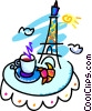 Vector Clipart graphic  of a Paris cafe