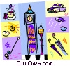 Vector Clip Art graphic  of a United Kingdom