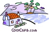 farm house Vector Clipart picture