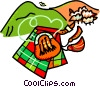 Vector Clip Art graphic  of a Scottish kilt with sheep
