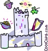 Vector Clip Art image  of a European castle