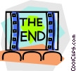 Vector Clip Art image  of a movie theatres