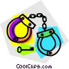 handcuffs Vector Clip Art picture