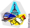 Vector Clipart graphic  of a Paris France