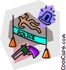 police crime scene Vector Clipart graphic