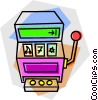 Vector Clipart graphic  of a slot machines