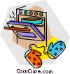 stoves Vector Clip Art picture