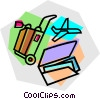 Vector Clipart illustration  of a plane