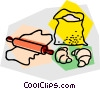 Vector Clipart image  of a baking supplies