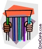 Vector Clipart illustration  of a prison cell